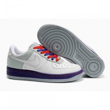 Chic Nike Air Force 1 One Low Ceramics Women White Purple Shoes 1017 US$ 48.00 - On Hot Sale