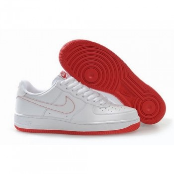 Unique Nike Air Force 1 One Low Women White Red Shoes 1014 US$ 46.00 - Get A Big discount