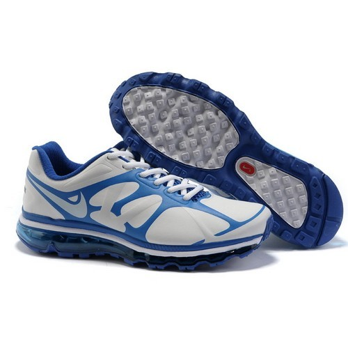 Best Sale Nike Air Max 2012 Leather White/Mineral Blue Men Running Shoes 1010 US$ 58.00 - Get A Big discount : Basketball-Mall
