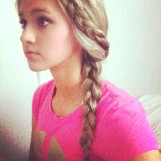 Clothes, Makeup,  Hair / Braided into a braid! So cute and easy to do!