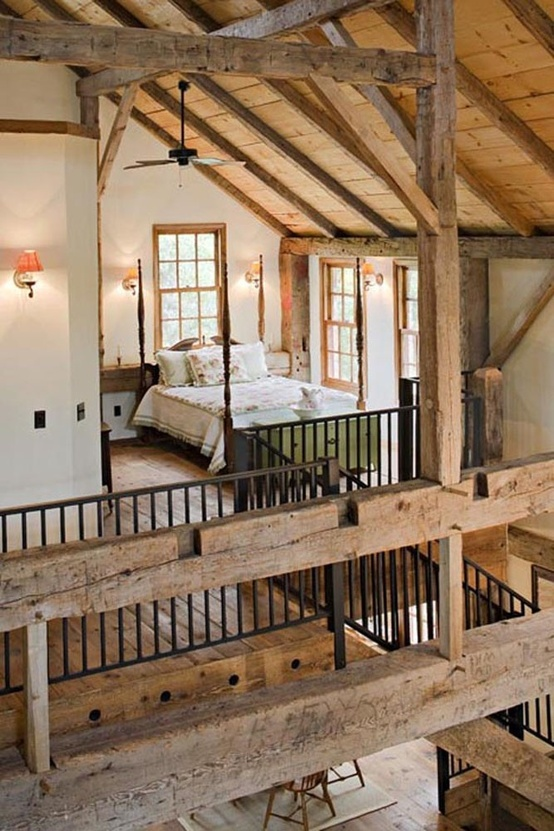 Barn Loft Bedrooms On Barn House Plans A Frame Interior With Loft