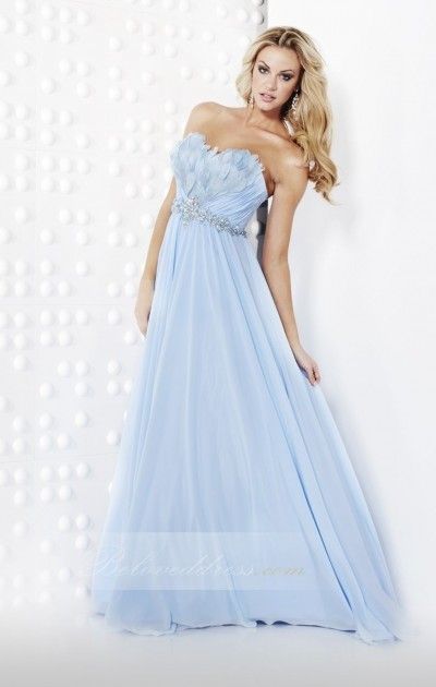 a-line sweetheart floor length chiffon prom dress