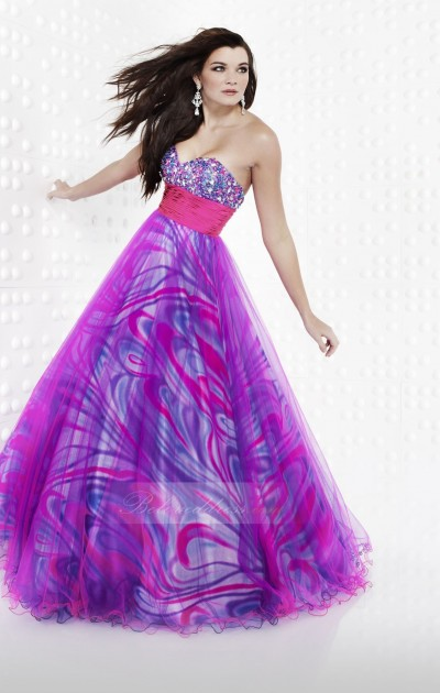 a-line sweetheart floor length purple prom dress