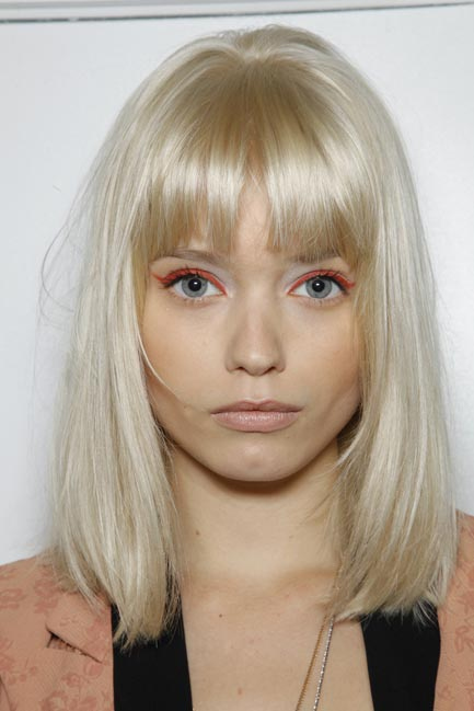 abbey lee, abbey lee kershaw, bangs, beautiful, blonde