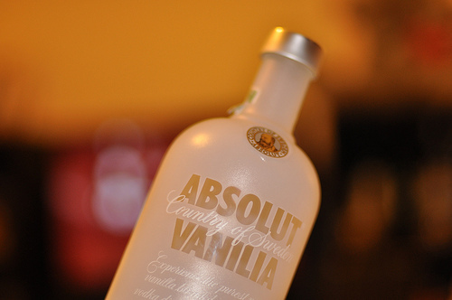 absolut, hot, vanilia, vodka