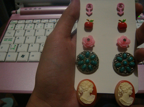 accessories, apple, art, beautiful, bohemian, cameo, couple, cute, earrings, fashion, hair, photography, pretty