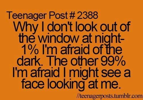 afraid, dark, look, me, night, teenager post, window