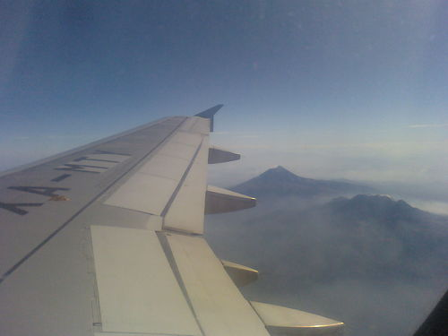 airplane, mountain, mexico