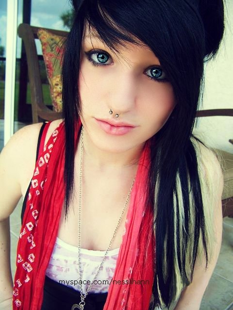 alternative, blue eyes, girl, hair, piercing