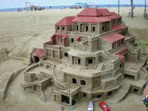 amazing, sand, castle, beach