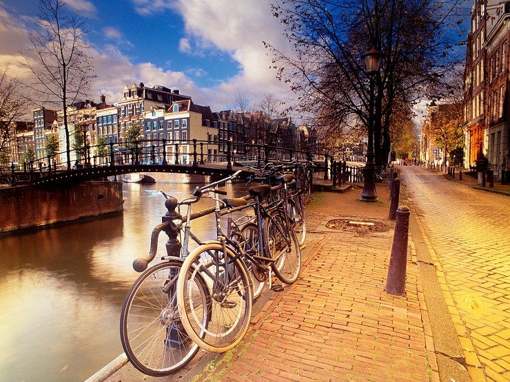 amsterdam, cycling, european, city, bike