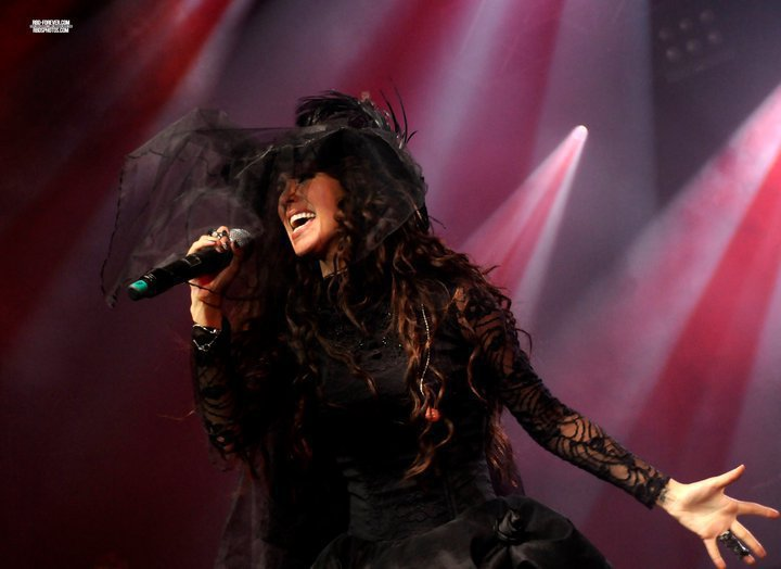anahi, black, hat, dress, singer