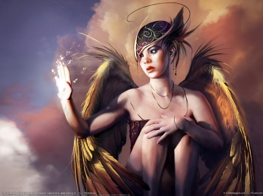 angel, wings, fantasy, girl