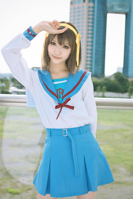 anime, art, asian, beautiful, cosplay, couple, cute, fashion, girl, hair, haruhi, photography, pretty