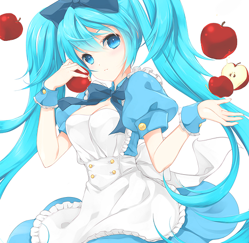 anime, cute, girl, hatsune miku, kawaii, maid, miku, pretty, vocaloid