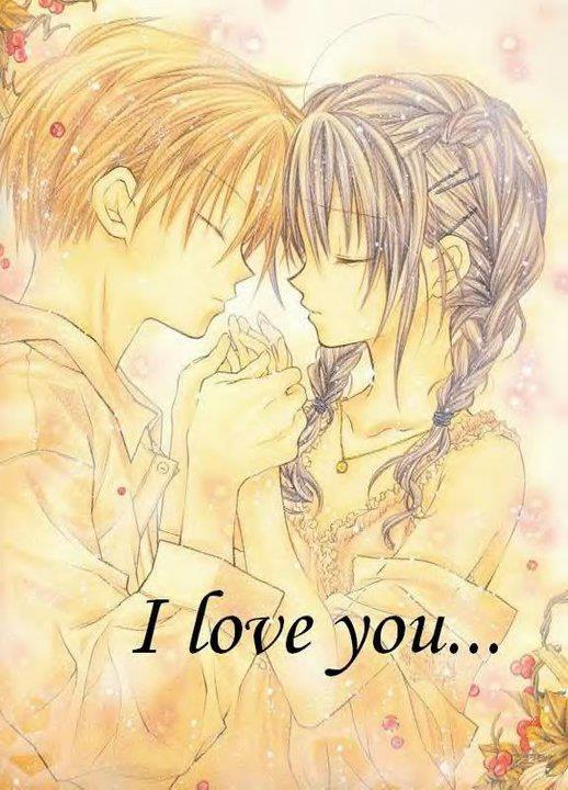anime, drawing, lovers, love, sweet