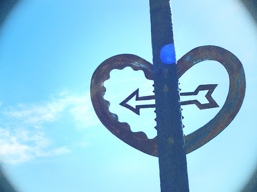 arrow, clouds, heart, love, photography