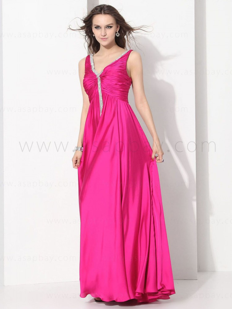 asapbay sexy the newest gorgeous elastic satin v neck floor length pageant dress