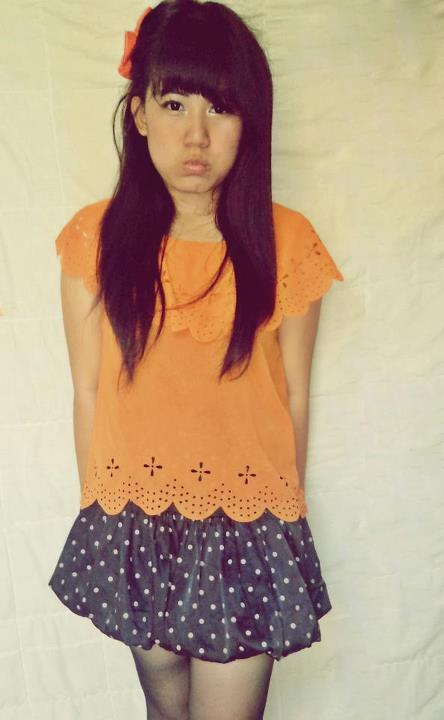 asian girl, indonesian girls, orange, indonesian, skirt
