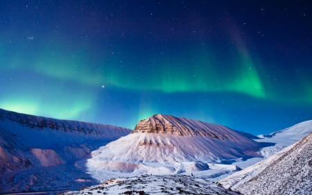aurora, mountains, northern lights, sky