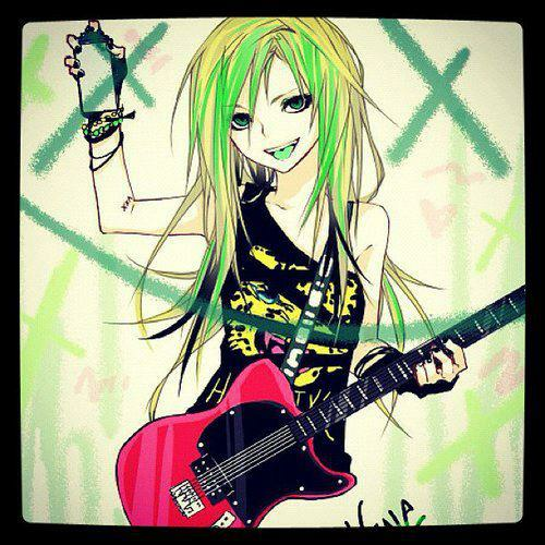 avril lavigne, drawing, smile, fender, guitar