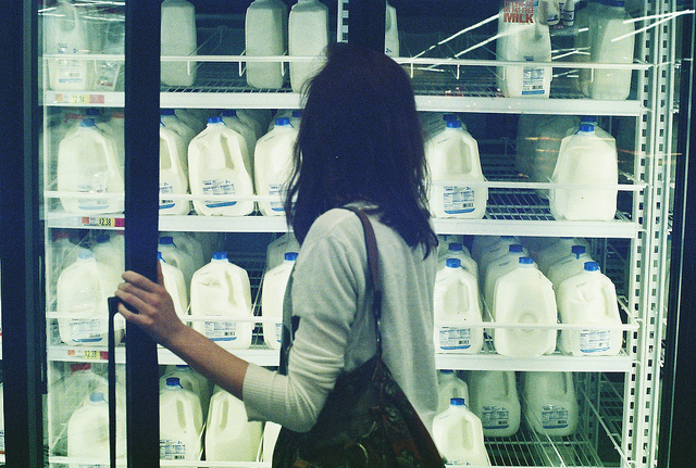 back, girl, light, supermarket, travel