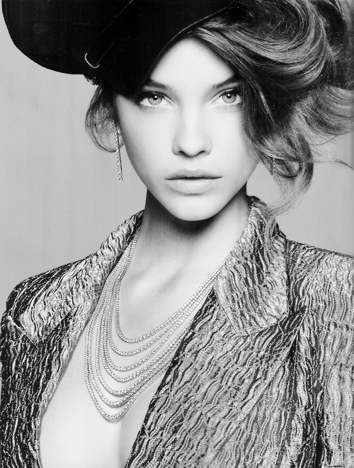 barbara palvin, beautiful, fashion, black and white, vs model