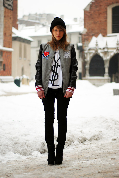 baseball, fashion, girl, winter, ysl