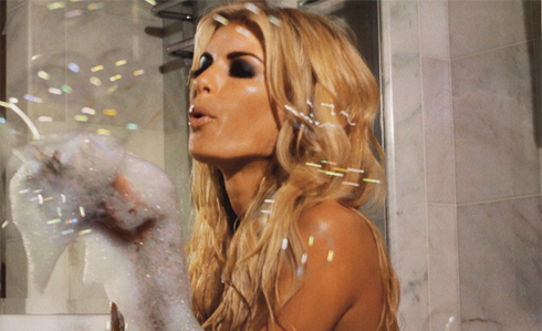 bath, blonde, bubbles, fashion, marisa miller