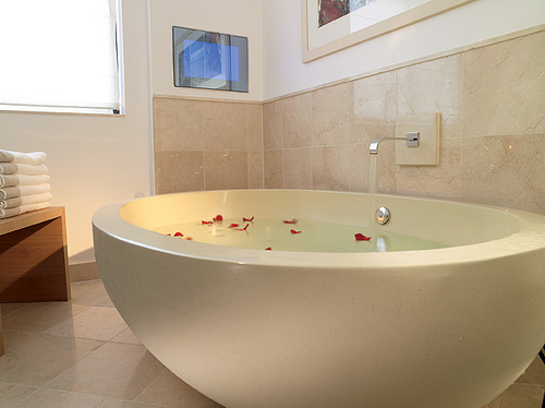 bathtub, beautiful, house, relax, water