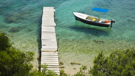 beach, boat, clear, dock, sea