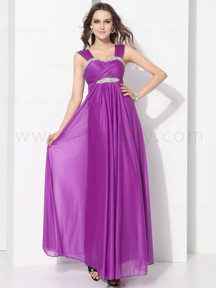beading imagine purple asapbay fashion chiffon strapless strap floor length graduation dress