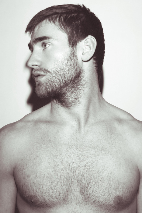 beard, boy, guy, hot, niples