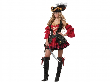 beautiful, blonde, boots, costume