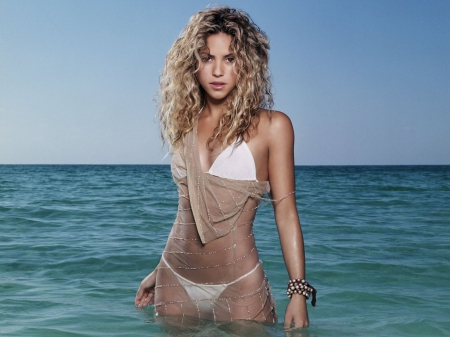 beautiful, body, face, girl, hair, shakira