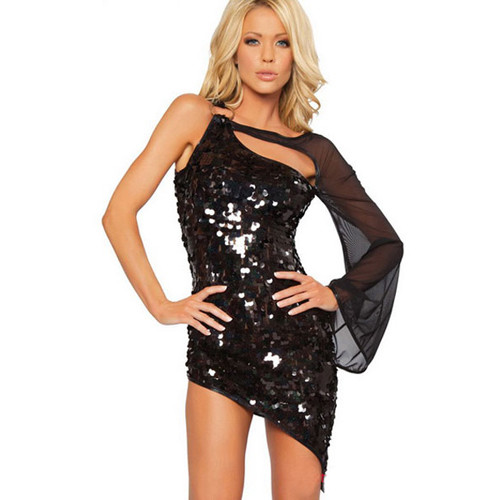 beautiful fashion patent leather adult costume