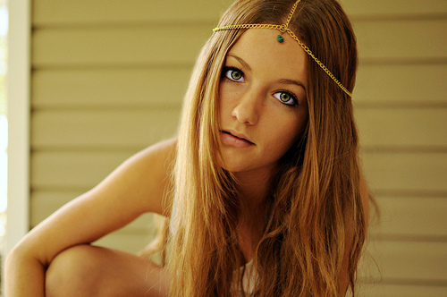 beautiful, headdress, eyes, girl, fashion