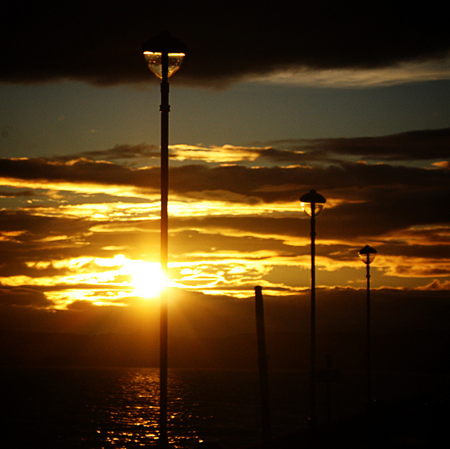 beautiful, lamp posts, love, romantic, seaside
