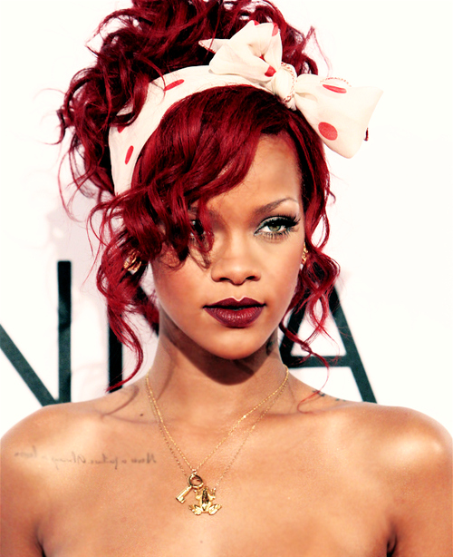 beautiful, love, red, rihanna, rihanna ronald mcdonalds