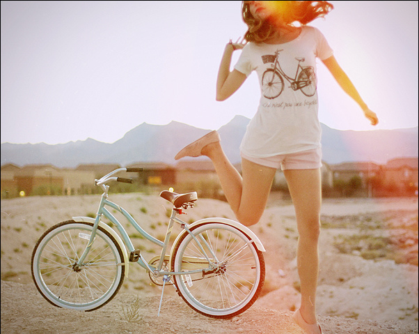 beauty, bicycle, bike, bikes, cruiser, dancing