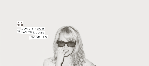 beauty, black and white, blonde, glasses, quote