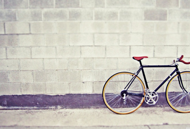 bicycle, vintage, wall