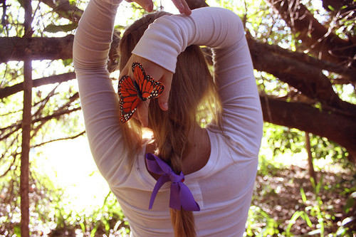 black, butterfly, hair, inspiration, nature