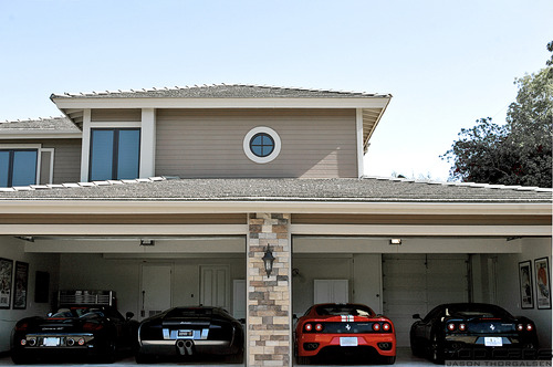black, cars, exotic, ferrari, house