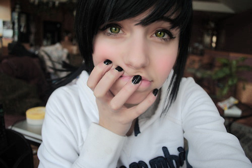 black, girl, green eyes, holy shit marry me, nails