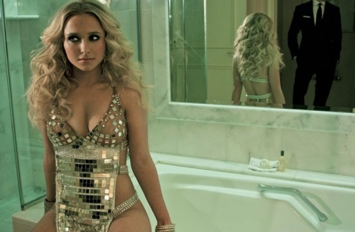 art, beautiful, blonde, couple, cute, fashion, hair, hayden panettiere, hot, mirror, photography, pretty