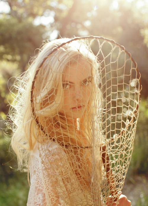 blonde, net, nature, girl, photography
