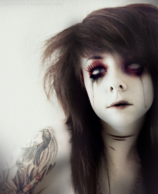 art, beautiful, blood, couple, creepy, cute, deviantart, fashion, girl, hair, lauren, laurencrucifix, photography, pretty