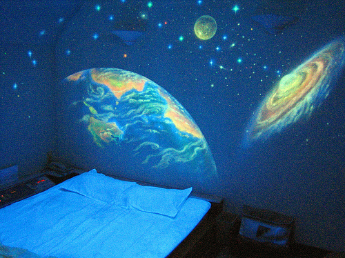 Blue planet room space stars image 468838 on for Outer painting design