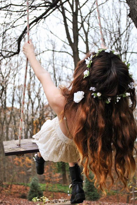 boho, hipster, flower, crown, floral wreath